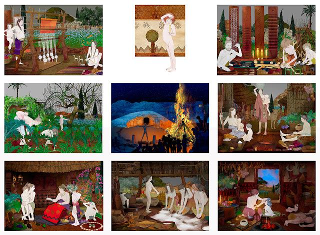 calcolitico, distintas escenas