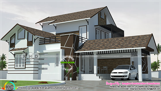 Classic sloped roof home plan 1845 sq-ft