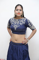 Ruchi Pandey in Blue Embrodiery Choli ghagra at Idem Deyyam music launch ~ Celebrities Exclusive Galleries 020.JPG