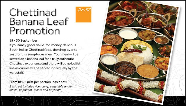 Zest Lifestyle Restaurant Marriott Hotel Putrajaya Banana Leaf Rice Promotion