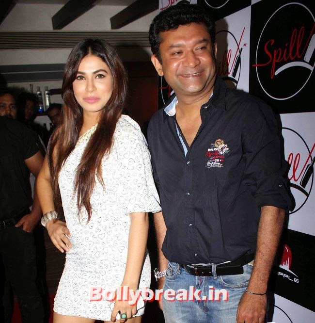 Ken Ghosh, Yuvika, Shifali at Launch of Spill Restobar