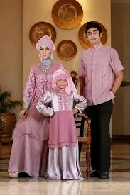 Model Baju Muslim Pesta Couple Family Terbaru