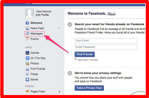 how to find your facebook url on app
