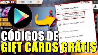 MELHOR APP PARA GANHAR GIFT CARDS DE GRAÇA TODA SEMANA