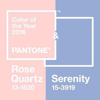 Rosa Cuarzo y Serenidad - Colores Pantone 2016