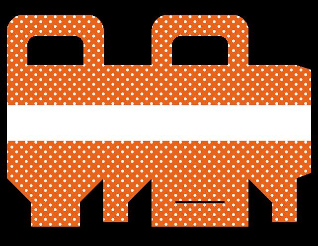 Cajas de Papel con Lunares para Imprimir Gratis.
