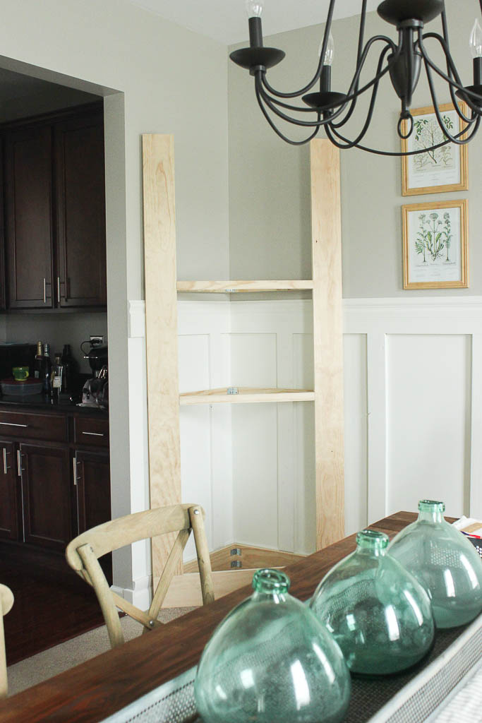 DIY corner cabinet for dining room
