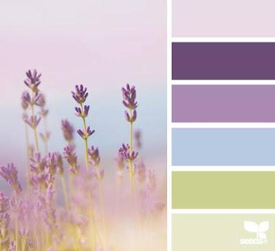 Lavender colour palette