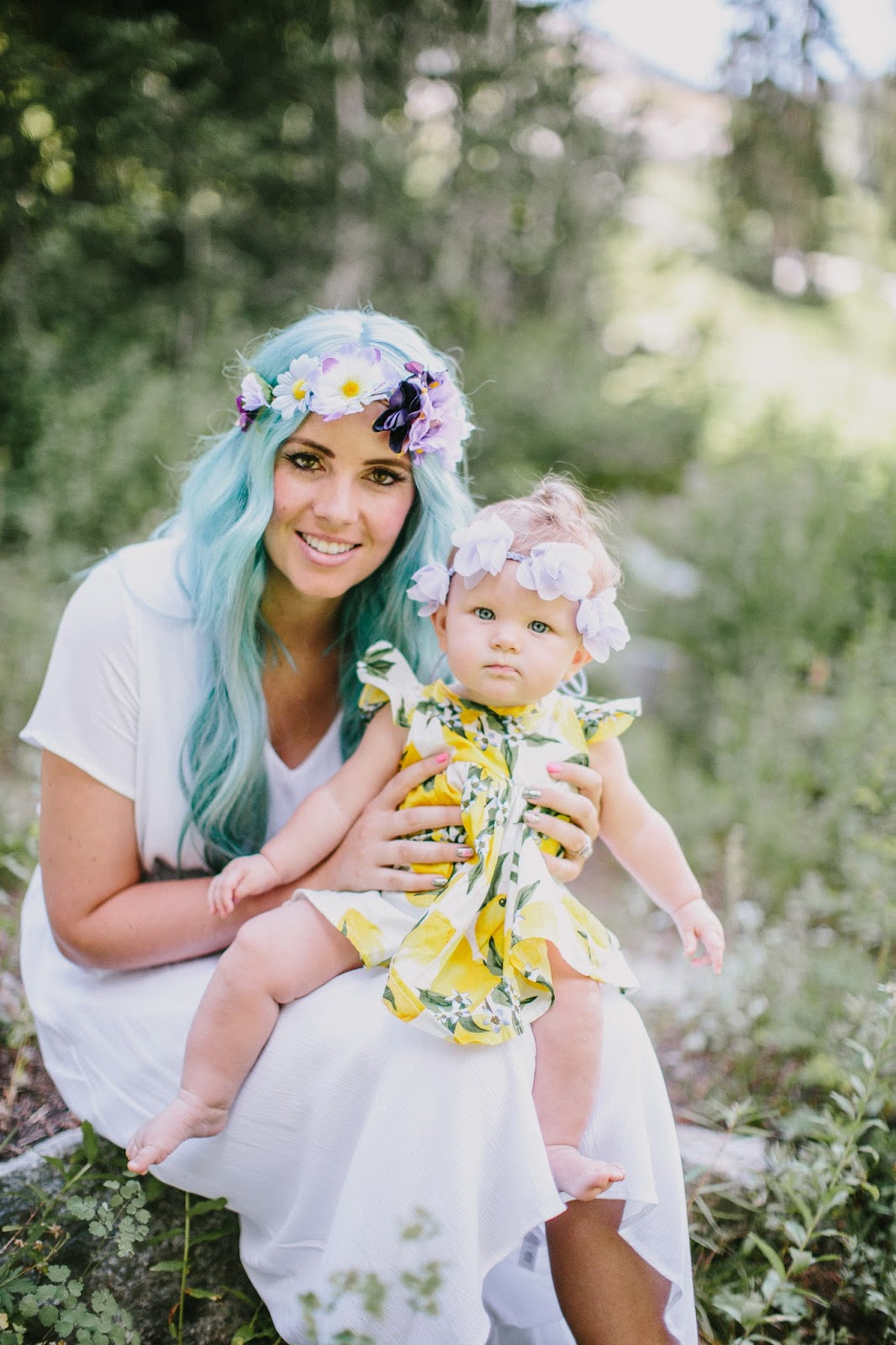 Floral Crowns, Floral Headbands, Blue Hair