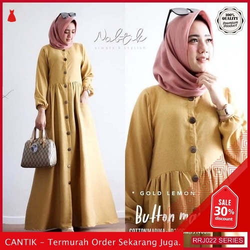 Jual RRJ022D160 Dress Maxy Babyterry Wanita Button St Terbaru BMGShop
