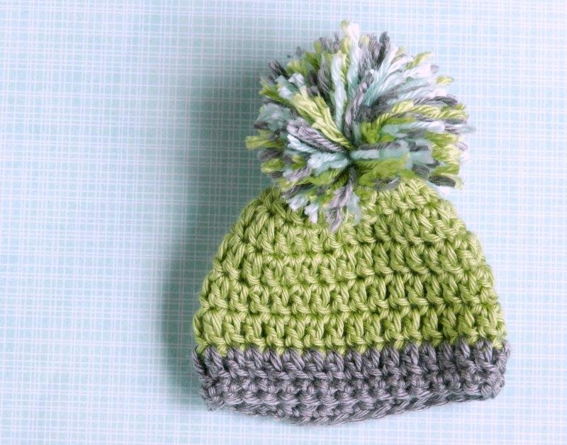 Crochet Pom Hat for a Baby Boy: Grow Creative