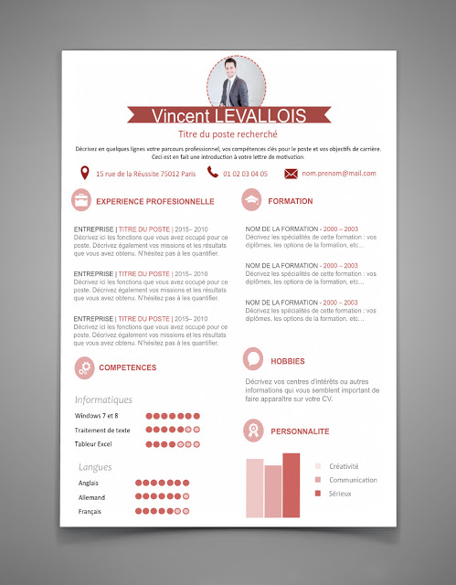 template cv stage