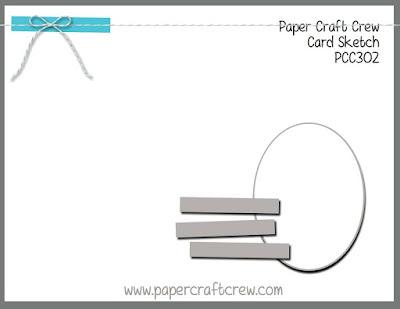 Paper Craft Crew Card Sketch Challenge #PCC302 from Mitosu Crafts UK