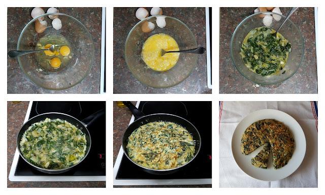 tortilla de acelgas y cebolla II