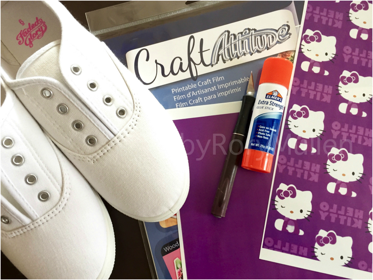 Custom diy hello kitty canvas shoes rory mullen recommend using slip ons the lace holes can be a bit tricky if youre not comfortable working with the material and take more time and patience solutioingenieria Gallery