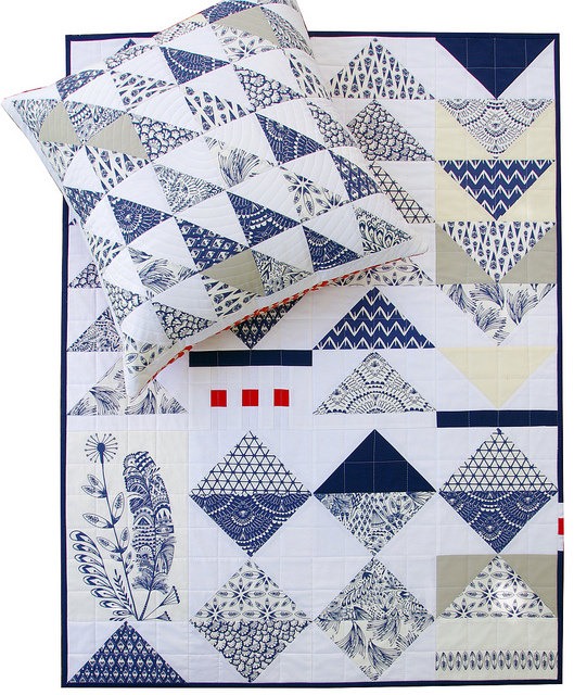 Bengal by Hawthorne Threads | Pillow and Quilt by Red Pepper Quilts
