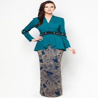 model baju kurung batik stelan