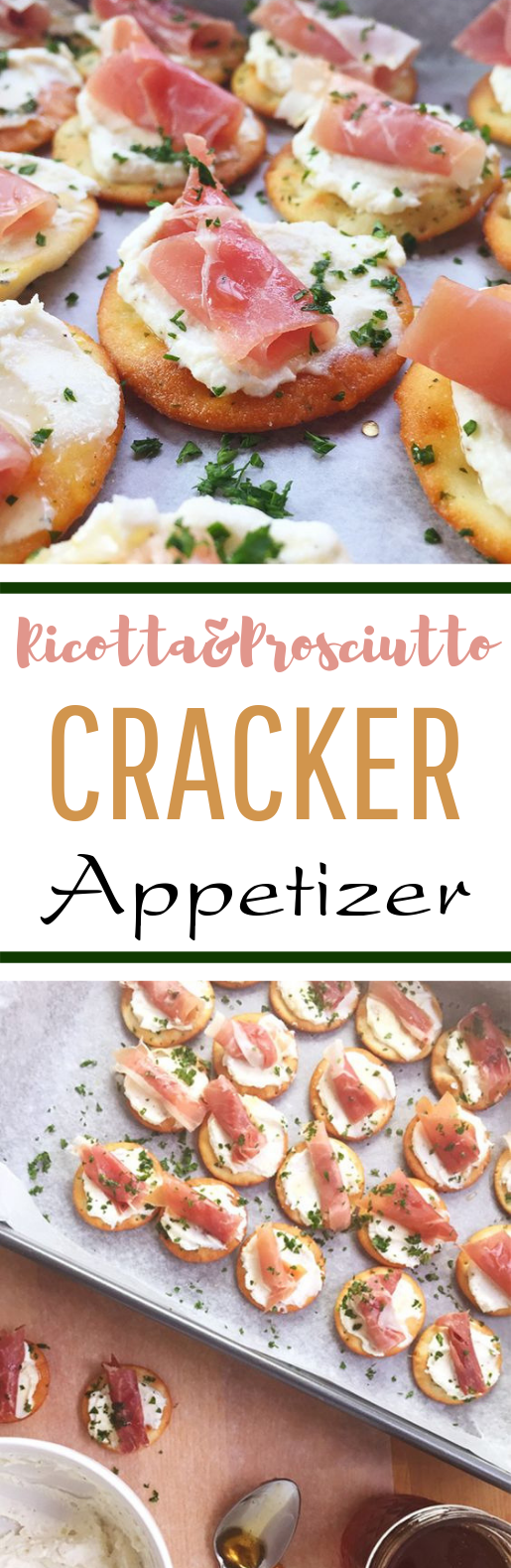 Ricotta and Prosciutto Cracker Appetizer #cheap #fingerfood
