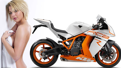 New 2016 KTM 1190 RC8R  with model hd pose