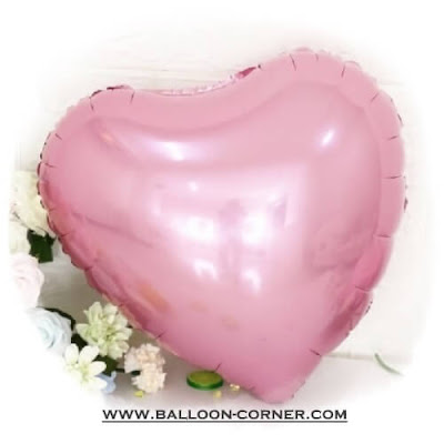 Balon Foil Hati / Foil Love Soft Pink (NEW COLOUR)