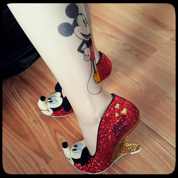 irregular choice disney mickey shoe