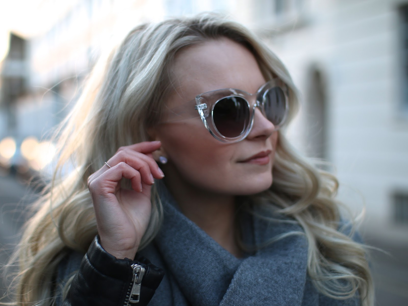 clear framed cat eye sunglasses from ASOS