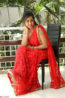 Lasya Cute Beauty in Saree Backless Choli at her Interview ~  Exclusive 025.JPG