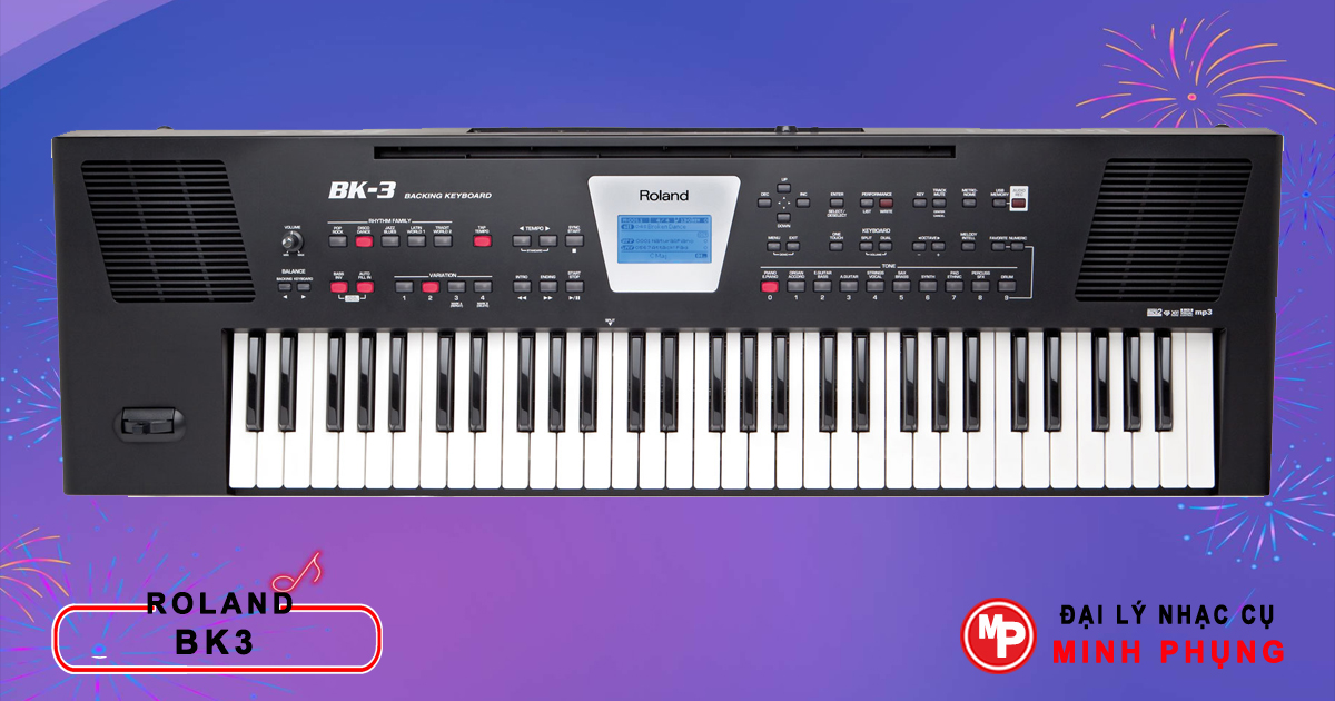 Đàn Orga Roland BK3 được cải tiến đa chức năng, mang cả thế giới âm nhạc đến cho bạn.