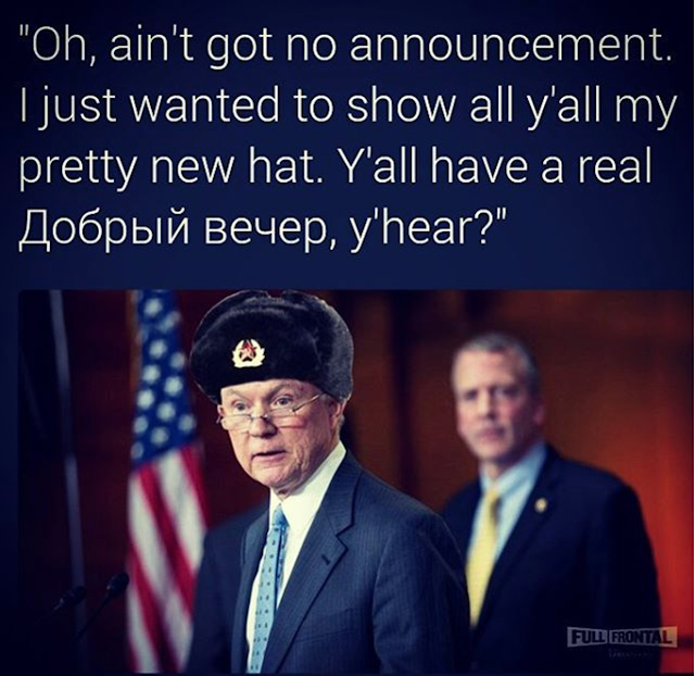 Sessions Meme Sessions with Russian hat
