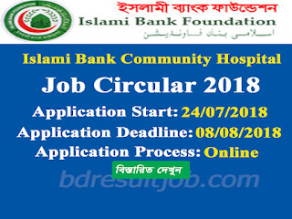 Islami Bank Community Hospital Job Circular 2018