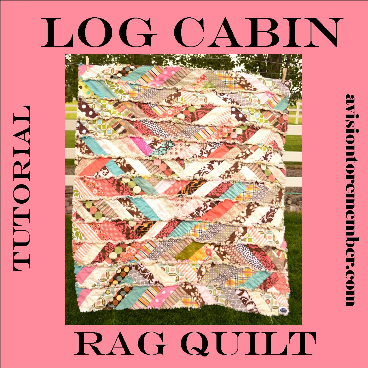 Its fall y all scrappy rag quilt tutorial modified log cabin quilt