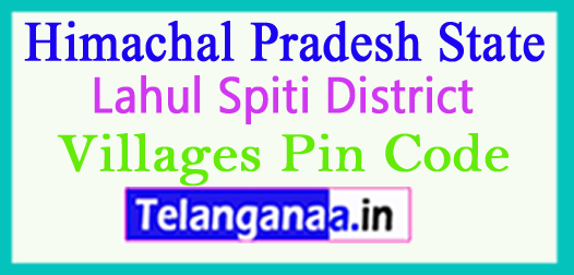Lahul Spiti District Pin Codes in Himachal Pradesh State