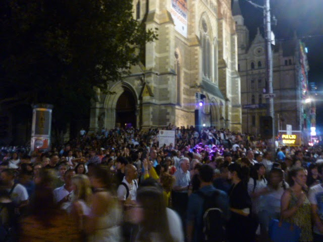 Crowd Outside Cathedral