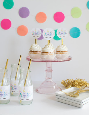 free unicorn cupcake toppers,