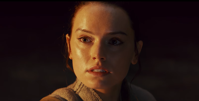 the dark side and the light shadow on rey
