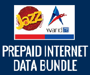 Jazz Warid All Prepaid Internet Packages and Details
