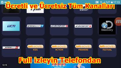 Android Telefonla ile Tüm Kanalları Full izleyin