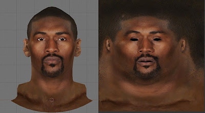 NBA 2K13 Metta World Peace Cyberface Texture Mod