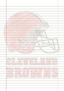 Papel Pautado Cleveland Browns rabiscado PDF para imprimir na folha A4