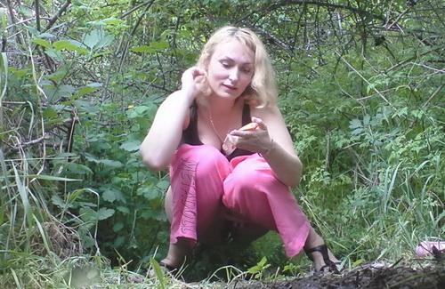 PissHunters 9203-9218 (Girls pee outdoors hidden camera. Hidden cam in public toilet)