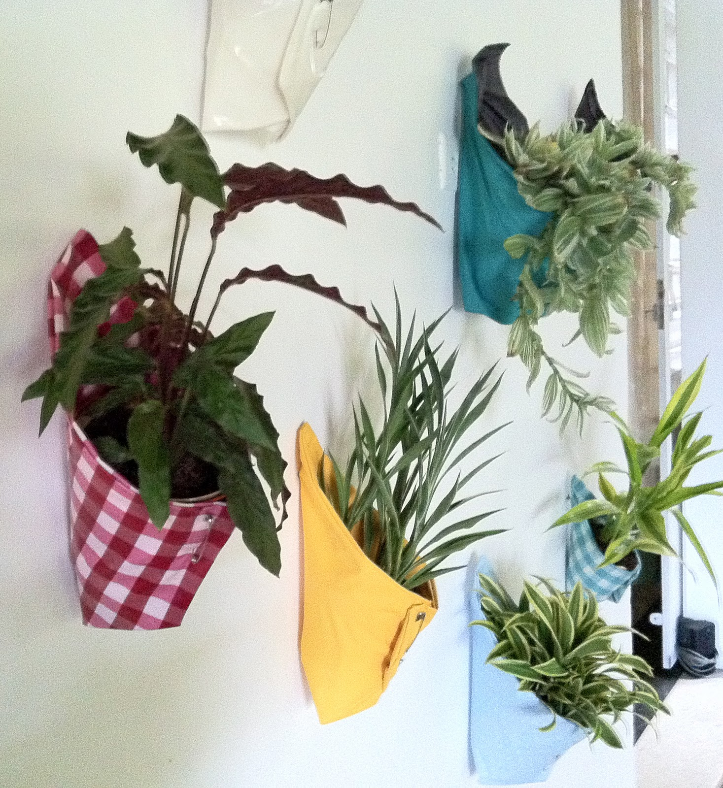 Fence Plant Hangers: THE CLOROFILAS: Grany Vertical Garden