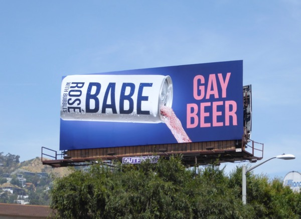 Rosé Babe Gay Beer billboard