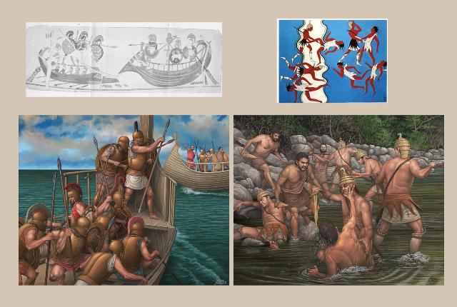Δύο σημαντικές στρατιωτικές αναπαραστάσεις αρχαίων ελληνικών αγγειογραφιών και νωπογραφιών