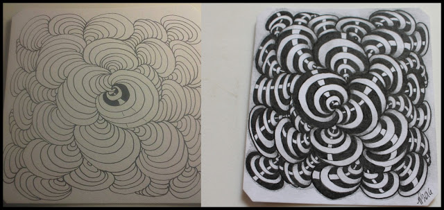 bunzo shading zentangle