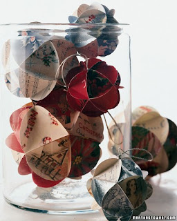 recycled greeting card crafts to make hanging Christmas Ornaments or mobiles