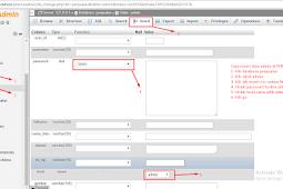 Menambahkan data record tabel admin di PHPMyAdmin