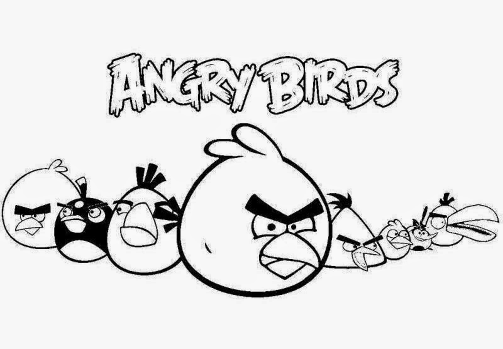 Colour Drawing Free Wallpaper: Angry Birds Coloring