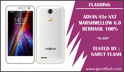 Cara Flash dan Firmware Advan S5E NXT Marshmallow (6.0) Tested