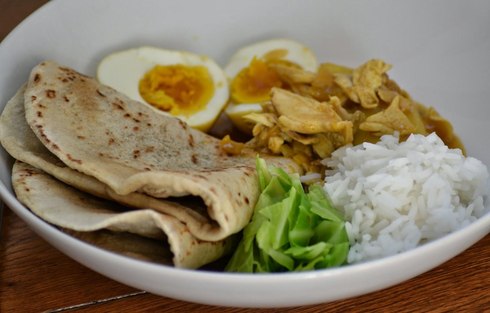 Zelf Surinaamse roti maken met kerrie-kip