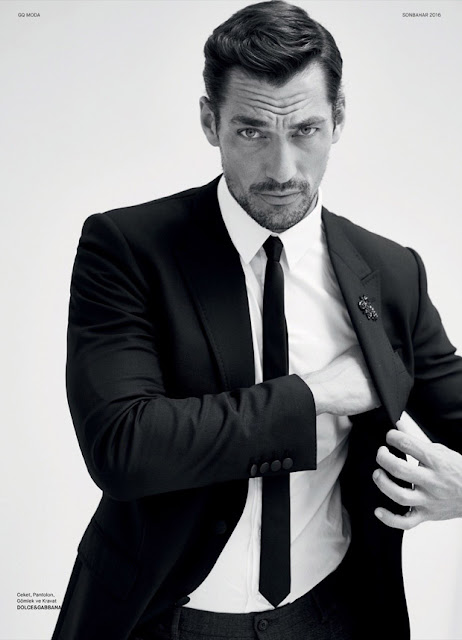 David Gandy, supermodel, GQ, GQ Turkey, menswear, Magazine, cover, Suits and Shirts, Koray Birand, Kaner Kivanc, Larry King,